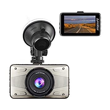 Dash Cam – ANNKOO AD02 3.0 Screen Full HD Display 1080P 1296P 170 Wide Angle HDR Dashboard Camera Car DVR Vehicle with Parking Monitoring, G-Sensor, WDR, Loop Recording Metal Case