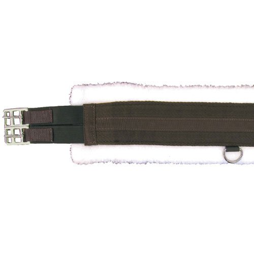 English Pony Tack - Intrepid International Fleece English Pony Girth with Double Elastic, 32