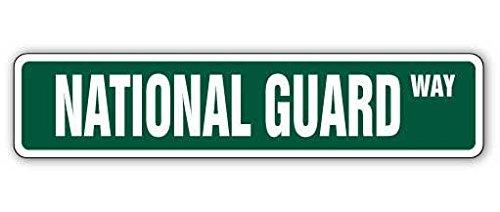 Cortan360 NATIONAL GUARD Street Sign air army gun acu ang  Indoor/Outdoor   8
