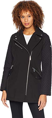Michael Michael Kors Women's Asymmetric Zip Front Softshell M523496GZ Black Medium ()