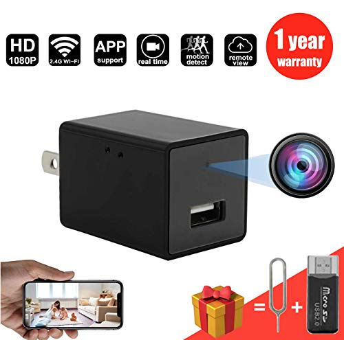 Spy Camera Wireless Hidden Wifi Mimi hidden Camera with Remote Viewing Function Portable Full HD 1080P Nanny Camera for indoor or outdoor or office hidden Camera
