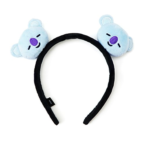 BT21 Official Merchandise by Line Friends - KOYA Character Plush Hair Band, Light Blue
