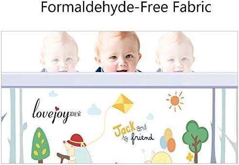 Rail de lit Gris très Grand Long Les Enfants en Bas âge Pliable Le Rail de Garde de lit de bébé d'enfants Le Double lit 88cm Haut (Taille : Length 180cm)