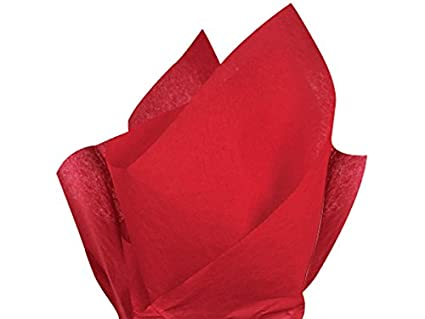 Solid Color Tissue Sheets, Red