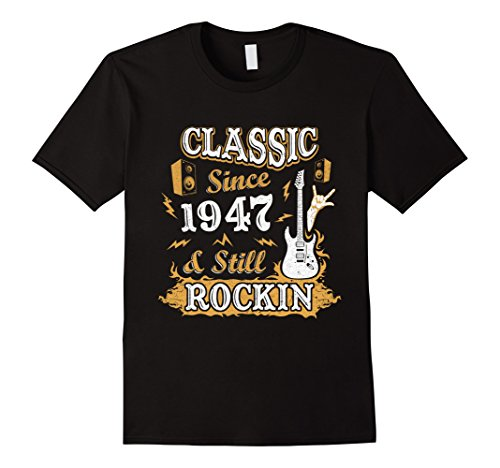 Guys 70's Costume Ideas (Mens Vintage Class Since 1947 With Rockin 70Th Birthday T-Shirt Large Black)