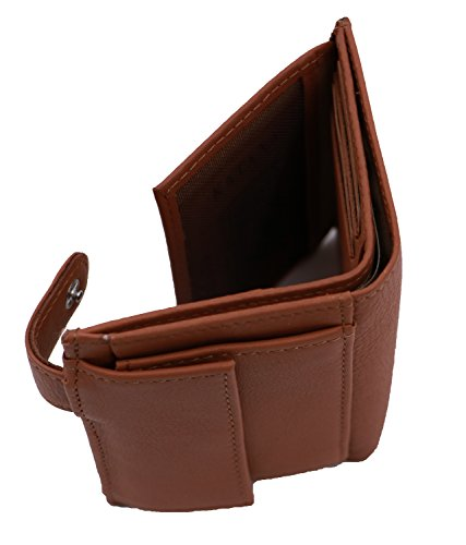 leather cowhide Wallet KATANA 753196 Brown Wallet KATANA xOnx6