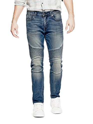 GUESS Men's Slim Tapered Moto - Men For Shades Guess