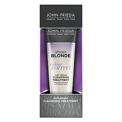 (John Frieda Sheer Blonde Colour Correct Anti-Brass Cleansing Treatment, 4 Ounces)