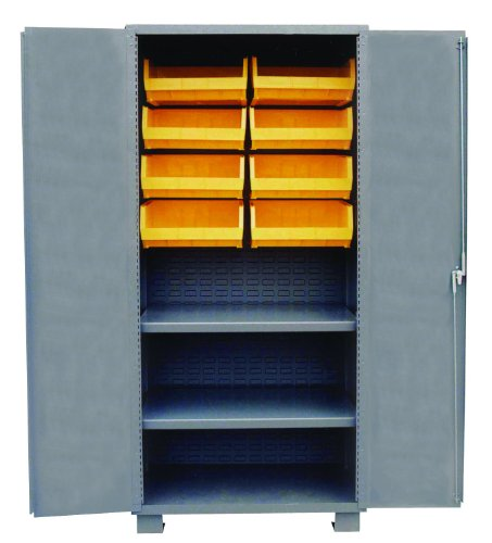 Jamco Products Inc HH260-GP Plastic Bin And Shelf Cabinet Two Shelves, 24-Inch x - Bin Gp Plastic
