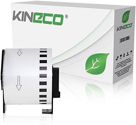 Kineco Endlos-Etikett kompatibel für Brother DK22205 62mm x 30,48m P-Touch QL-1050 1060N 500 550 560 570 580 700 500 A BS BW 560 VP YX 580N 650TD 710W 720NW
