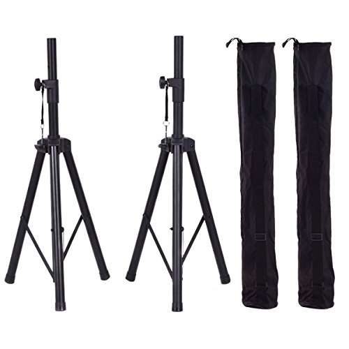 Costzon Height Adjustable Pair of Tripod DJ PA Speaker Stands Adjustable Height Stand w/Carry Bag (37