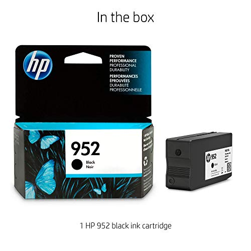 HP 952 Black Original Ink Cartridge 1000páginas Negro cartucho de tinta - Cartucho de tinta para impresoras (HP, Negro, OfficeJet Pro 8210, Standard Yield, ...