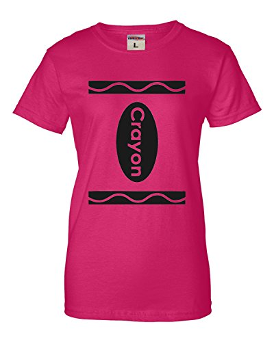 Go All Out Medium Cyber Pink Womens Crayon Costume T-Shirt -