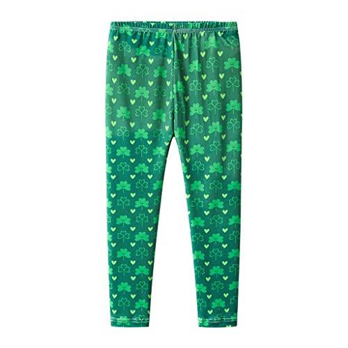 Yesyes Toddler Baby Kids Girls Boys St.Patrick's Day Shamrock Irish National Day Pants