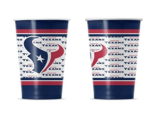 NFL Houston Texans Disposable Plastic Cups Pack Of 24