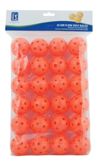 (Orange) - PGA Tour 24 Air Flow Practise Golf Balls