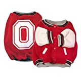 Sporty K9 Design No.2 Ohio State Varsity Dog Jacket, X-Small