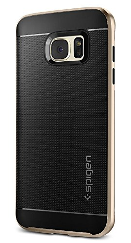 Spigen Neo Hybrid Galaxy S7 Edge Case with Flexible Inner Protection and Reinforced Hard Bumper Frame for Galaxy S7 Edge 2016 - Champagne Gold