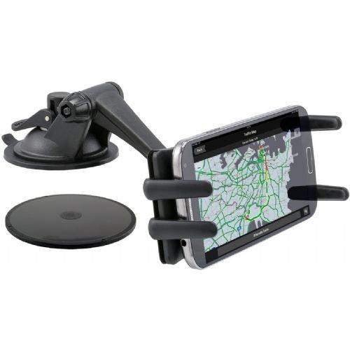 Robust Dash Car Mount, Desk Holder or Windshield Mount for ZTE Spro 2 Mobile Phones w/ Anti-vibration Swivel Cradle Holder