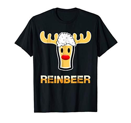 Reinbeer Shirt Funny Christmas Beer Lover T-Shirt Xmas Gift -
