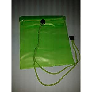 Pcmoviles -- Verde Transparente Bolsa Impermeable Agua Doble Cierre para HTC 8x