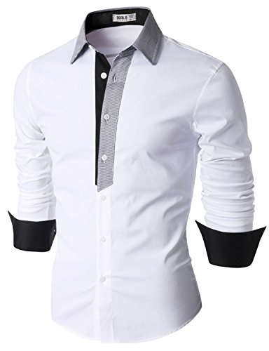 Doublju Cotton Flannel Sleeve Button