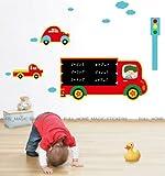 Generic TRANSPORT CARS Chalkboard/Blackboard Wall Stickers Children Learning Boys Room