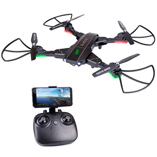 RC Quadcopter Drone with Gravity Sensor & FPV WiFi Camera, 2.4G 6 Axis Gyro Helicopter 3D Flips,Headless Mode, Altitude Hold for Kids (Drone-1)