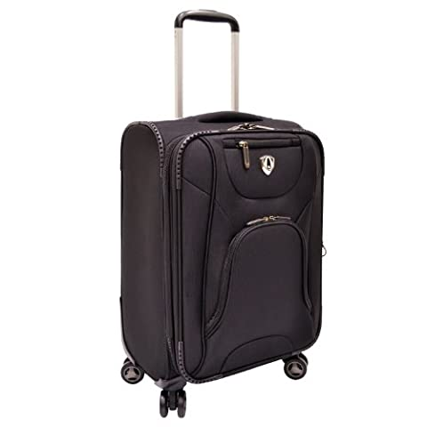 Traveler's Choice Cornwall Lightweight Expandable Spinner Luggage - Black (26-Inch) - 8 Suiter
