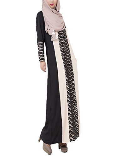 Ake Damen Long Sleeve Muslim Islamic Abayas Turkish Lace Aline Maxi ...