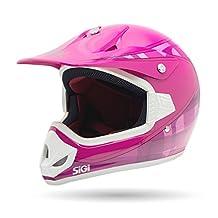 Sigi Pro Junior Youth Motocross Helmet, Pink, Small/Medium