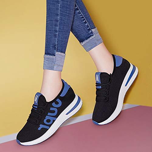 shoes leisure sports AJUNR Work shoes Ladies fashion style anti sponge gules female Autumn Women's cake mesh slip shoes qrptYx0p