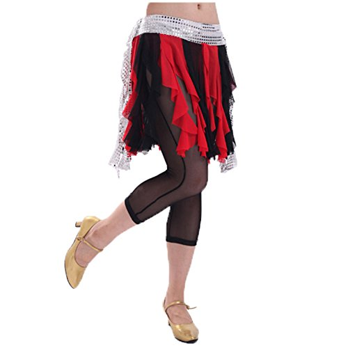 Dance Belly Rouge Scarf Noir Hip Belle Glands Costume Et drrwY8xn5