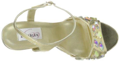 Dyeables Womens Kelly Platform Sandaal Goud Metallic