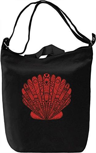 Seashell Borsa Giornaliera Canvas Canvas Day Bag| 100% Premium Cotton Canvas| DTG Printing|