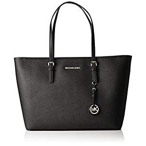 Michael Kors - Jet Set Travel Saffiano Leather Top-Zip Tote, Borsa con Maniglia Donna 4