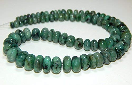 Emerald Smooth Roundelle Beads Roundell Shape 100 Persent Natural Gemstone Size 11.8x6.3 mm 18