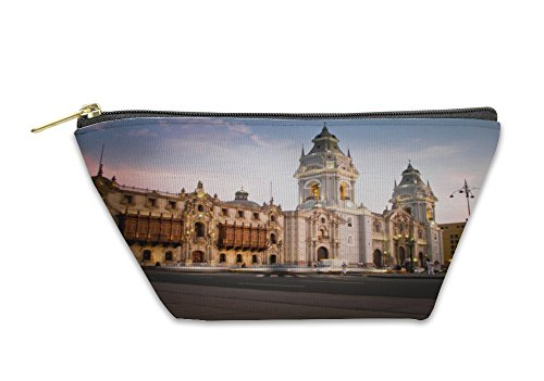 Gear New Accessory Zipper Pouch, Plaza De Armas In Lima Peru, Small, - Las Plaza Stores De Americas