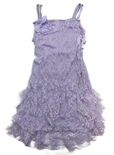 Biscotti Big Girls Lilac Lavender Lace Dress (12) ()
