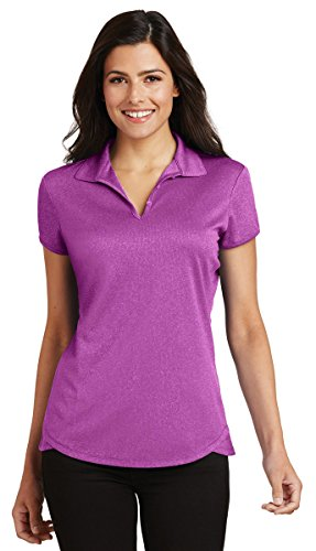 Ladies Trace - Port Authority Womens Trace Heather Polo (L576) -Berry Heat -S