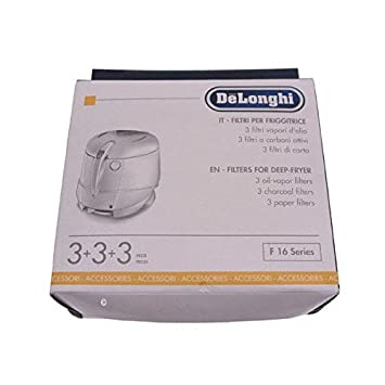 Delonghi - Kit de filtros para freidora F16200, F16231, F16233, F16301 y F16301: Amazon.es: Hogar