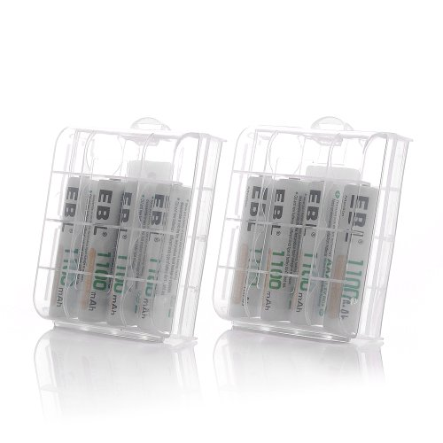 EBL 808 Rapid 8 Bay Smart AA AAA Battery Charger with 8pcs 1100mAh Ni-MH AAA Rechargeable Batteries by EBL (Image #2)