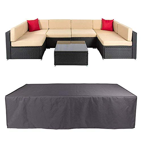 Veronica Patio Sofa Cover Outdoor Sectional Furniture Cover Waterproof Garden Couch Cover Dust Proof Protective Loveseat…