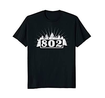 802 in the trees: Vermont area code VT T-shirt