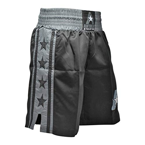 Anthem Athletics Classic Boxing Trunks Shorts - Black & Grey - Medium