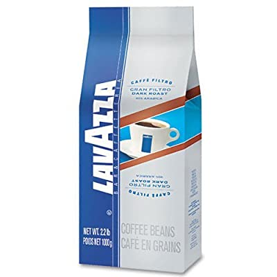 Lavazza LAV2440 Bar/Cafeteria Gran Filtro Dark Roast Coffee Beans (Pack of 6)