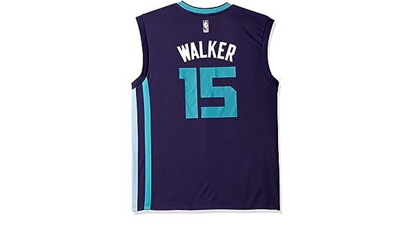 Adidas NBA Orleans Hornets Kemba Walker # 15 Hombres de la réplica de la Camiseta, Talla XXL, Color Morado: Amazon.es: Deportes y aire libre