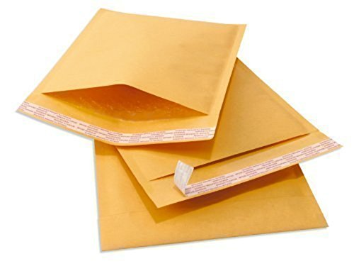 YensPackage 50 pcs 6.5 X 10 Kraft Bubble Padded Envelopes Mailers 50KF#0