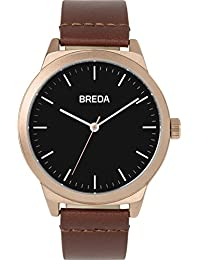 Men's 'Rand' 8184p Rose Gold and Brown Leather Strap Watch, 43MM
