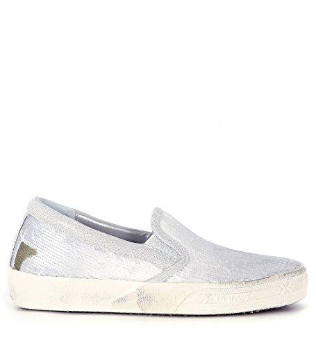 Slip-On Philippe Model en piel laminada y lentejuelas gris Gris